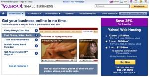 yahoo small business hosting